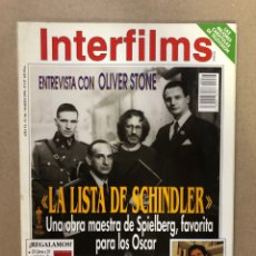 Cine: INTERFILMS N° 66 (MARZO, 1994). OLIVER STONE, LA LISTA DE SCHINDLER, F. TRUEBA, WEST SIDE STORY,.... Lote 169447672