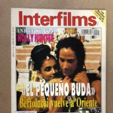 Cinema: INTERFILMS N° 64 (ENERO, 1994). BERTOLUCCI, ANA BELÉN, VÉRTIGO, SEAN CONNERY, HOLLY HUNTER. Lote 169447884