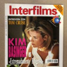 Cinema: INTERFILMS N° 63 (DICIEMBRE, 1993). TOM CRUISE, KIM BASINGER, VERÓNICA FORQUE, VICTORIA ABRIL,.... Lote 169448212
