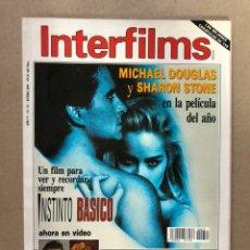 Cine: INTERFILMS N° 52 (ENERO, 1993). MICHAEL DOUHLAS Y SHARON STONE INSTINTO BÁSICO, LEWIS MILESTONE. Lote 169448728