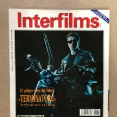 Cine: INTERFILMS N° 45 (JUNIO, 1992). TERMINATOR 2, ANTONIO BANDERAS, VITTORIO GASSMAN. Lote 169449576