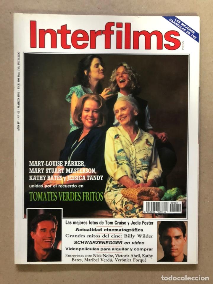 INTERFILMS N° 42 (MARZO, 1992). TOM CRUISE, JOSIE FOSTER, BILLI WILDER, MARIBEL VERDÚ,.,,, (Cine - Revistas - Interfilms)