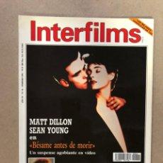 Cine: INTERFILMS N° 41 (FEBRERO, 1992). MATT DILLON, JULIA ROBERTS, BUDF BOETTICHER, SHIRLEY MACLAINE,.... Lote 169450840