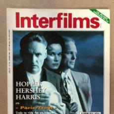 Cine: INTERFILMS N° 40 (ENERO, 1992). ALFREDO LANDA, ANTONIO BANDERAS, DENNIS HOOPER,.... Lote 169451108