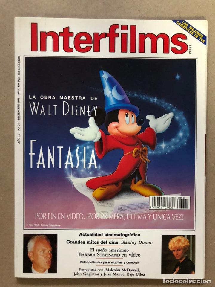 INTERFILMS N° 39 (DICIEMBRE, 1991). STANLEY DONEN, JUANMA BAJO ULLOA, JOHN SINGELTON,... (Cine - Revistas - Interfilms)