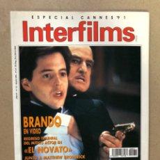 Cine: INTERFILMS N° 32 (MAYO, 1991). EL PADRINO I Y II, ESPECIAL CANNES, TIM BURTON,.... Lote 169453022