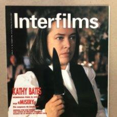 Cine: INTERFILMS N° 30 (MARZO, 1991). KATHY BATES EN MUSERY, SIDNEY POLLACK, FRANK BORZAGE,.... Lote 169453406