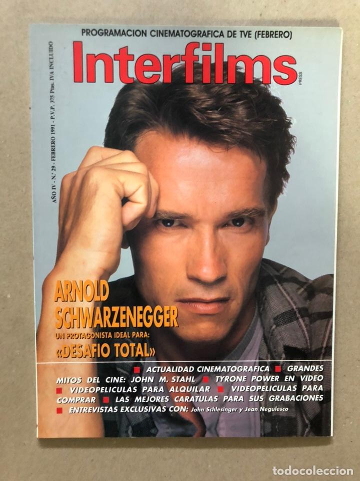 INTERFILMS N° 29 (FEBRERO, 1991). ARNOLD SCHWARZENEGGER DESFIO TOTAL, JOHN M. STAHL, TYRONE POWER (Cine - Revistas - Interfilms)