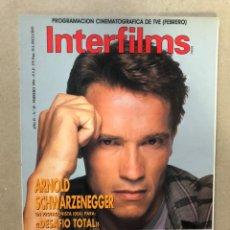 Cine: INTERFILMS N° 29 (FEBRERO, 1991). ARNOLD SCHWARZENEGGER DESFIO TOTAL, JOHN M. STAHL, TYRONE POWER. Lote 169453574