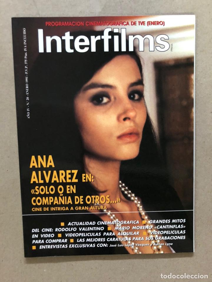 INTERFILMS N° 28 (ENERO, 1991). ANA ÁLVAREZ, CANTINFLAS, RODOLFO VALENTINO, LÓPEZ VÁZQUEZ (Cine - Revistas - Interfilms)