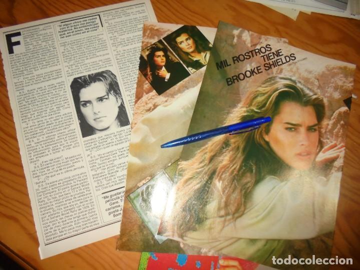 RECORTE : LOS MIL ROSTROS DE BROOKE SHIELDS. FOTOGRAMAS, ENERO 1984 (Cine - Revistas - Fotogramas)