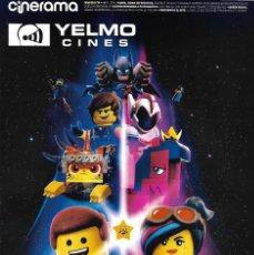 Cine: REVISTA CINERAMA YELMO CINES Nº 279 LA LEGO PELICULA 2 // DISPONIBLE:4. Lote 169729252