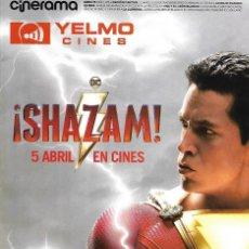 Cine: REVISTA CINERAMA YELMO CINES Nº 281 SHAZAM // DISPONIBLE:2. Lote 169729408
