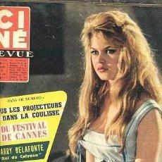 Cine: ANTIGUA REVISTA CINE MONDE 1957 //////// BRIGITTE BARDOT /// UNA PARISINA. Lote 169915280