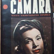 Cine: CÁMARA REVISTA CINEMATOGRÁFICA ESPAÑOLA. AÑO I N 1 1941 A N 14 1942 ENCUADERNADAS EN I VOL LOMO PIEL. Lote 170084205