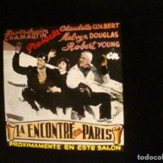 Cine: LA ENCONTRE EN PARIS. Lote 170207180