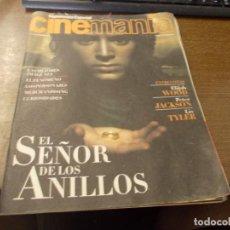 Cinema: SUPLEMENTO ESPECIAL CINEMANÍA EL SEÑOR DE LOS ANILLOS. DICIEMBRE 2.001. Lote 170299116