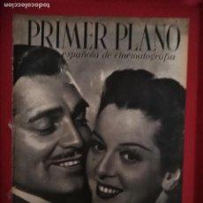 Cine: PRIMER PLANO N 98 30 DE AGOSTO 1942 CLARK GABLE Y ROSALIND RUSSELL ROBERT FONT. Lote 170864410