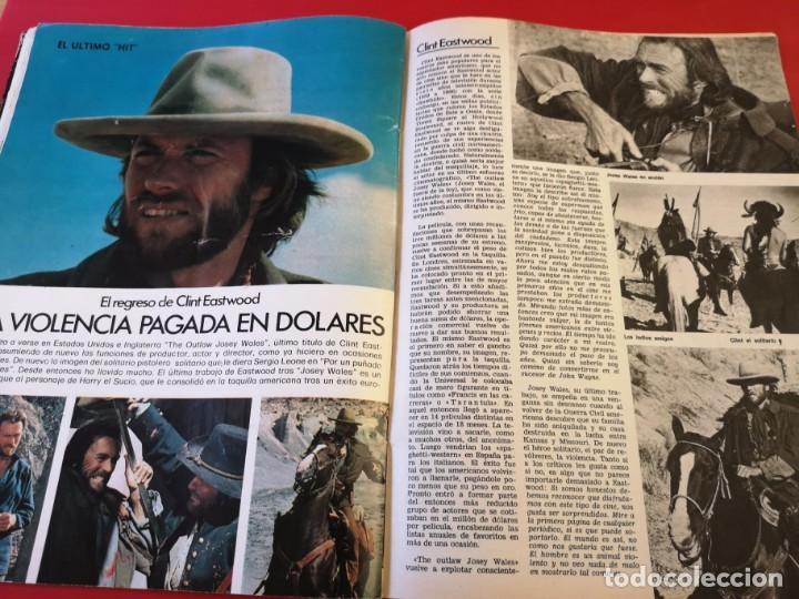 Cine: Revista fotogramas número 1459 año 1976. Clint eastwood - Foto 2 - 170869145