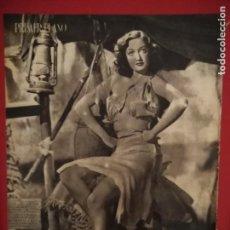 Cine: REVISTA PRIMER PLANO. SEPTIEMBRE 1941. Nº 47. GARY COOPER. DOROTHY LAMOUR.. Lote 170881140