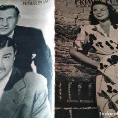 Cine: PRIMER PLANO REVISTA DE CINE AÑO 1946 Nº 293 EN PORTADA DIANA DURBIN BUD ABBOT Y LOU COSTELLO . Lote 170975489