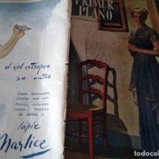 Cine: PRIMER PLANO. AGOSTO . 1947. Nº 359. ANN TODO. ELLA RAINES. CLARK GABLE. GINGER ROGERS.. Lote 170977728