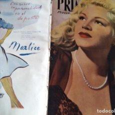Cine: REVISTA PRIMER PLANO. Nº339. 1947 - JUNE HAVER, ESTHER WILLIAMS, FOSCO GIACHETTI, MARIA DENIS. Lote 170979534