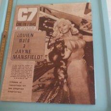 Cine: Nº 326 REVISTA CINE EN 7 DIAS 1967 C7 JAYNE MANSFIELD, CONCHITA VELASCO, MARISA MELL, KIM NOVAK... Lote 170987327