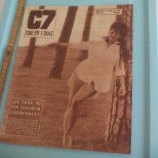 Cine: Nº 281 REVISTA CINE EN 7 DIAS 1966 C7 CLAUDIA CARDINALE, 3 SUDAMERICANOS, LOS 5 LATINOS. SOFIA LOREN. Lote 170987582