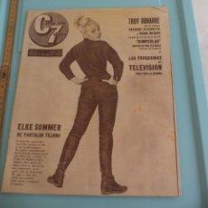 Cine: Nº 156 REVISTA CINE EN 7 DIAS 1964 C7 ELKE SOMMER, JEAN SEBERG, SUZANNE PLESHETTE,GEORGIA MOLL... Lote 171004474