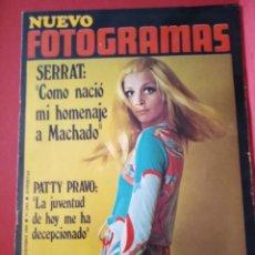 Cine: REVISTA -NUEVO FOTOGRAMAS Nº 1092, SEPT. 1969, PORT. PATTY PRAVO, JOAN MANUEL SERRAT. Lote 171051108