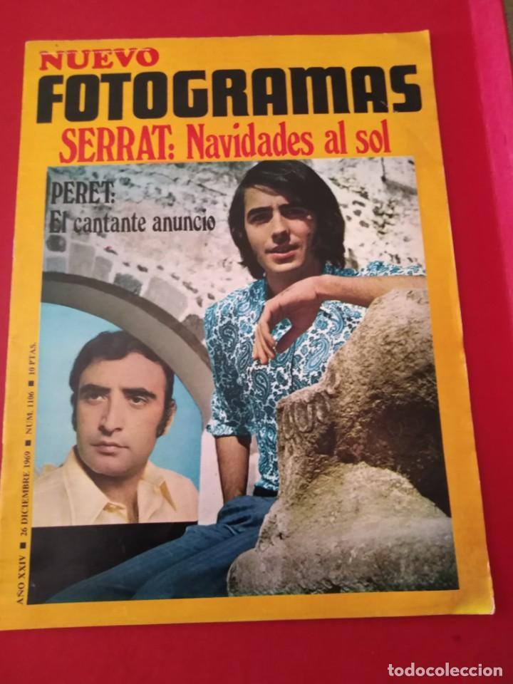 NUEVO FOTOGRAMAS // N. 1106 // 26 DICIEMBRE 1969--PORTADA SERRAT. (Cine - Revistas - Fotogramas)
