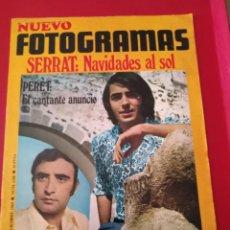 Cine: NUEVO FOTOGRAMAS // N. 1106 // 26 DICIEMBRE 1969--PORTADA SERRAT.. Lote 171052120