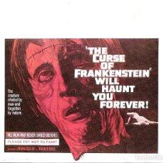 Cine: LA MALDICION DE FRANKENSTEIN-PROGRAMA DE MANO MODERNO NO ORIGINAL-. Lote 206235802