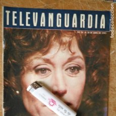 Cine: TV ANTIGUA REVISTA SUPLEMENTO TELE VANGUARDIA TELEVANGUARDIA 1993 ROSA MARIA MATEO ELS EWOKS STING. Lote 171539395