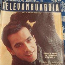 Cine: TV ANTIGUA REVISTA SUPLEMENTO TELE VANGUARDIA TELEVANGUARDIA 1992 IMANOL ARIAS. Lote 171542358