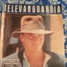 Cine: TV ANTIGUA REVISTA SUPLEMENTO TELE VANGUARDIA TELEVANGUARDIA 1992 INDIANA JONES. Lote 171542408