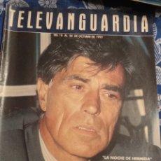 Cine: TV ANTIGUA REVISTA SUPLEMENTO TELE VANGUARDIA TELEVANGUARDIA 1992 JESÚS HERMIDA. Lote 171542432