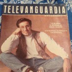 Cine: TV ANTIGUA REVISTA SUPLEMENTO TELE VANGUARDIA TELEVANGUARDIA 1992 EMILIO ARAGÓN DIRE STRAITS GABINET. Lote 171542534