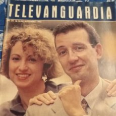 Cine: TV ANTIGUA REVISTA SUPLEMENTO TELE VANGUARDIA TELEVANGUARDIA 1992 TONI BASSAS SILVIA CAPULO. Lote 171542555