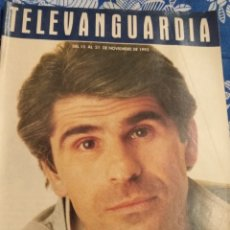 Cine: TV ANTIGUA REVISTA SUPLEMENTO TELE VANGUARDIA TELEVANGUARDIA 1992 PEDRO RUIZ. Lote 171542667