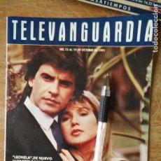 Cine: TV ANTIGUA REVISTA SUPLEMENTO TELE VANGUARDIA TELEVANGUARDIA 1991 LEONELA JANNETTE RODRIGUEZ. Lote 171574999