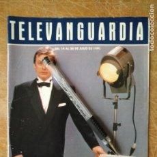 Cinema: TV ANTIGUA REVISTA SUPLEMENTO TELE VANGUARDIA TELEVANGUARDIA 1991 CINEMA CON ALAIN DELON. Lote 171575245
