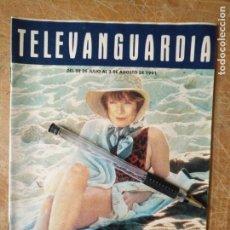 Cine: TV ANTIGUA REVISTA SUPLEMENTO TELE VANGUARDIA TELEVANGUARDIA 1991 SHIRLEY MACLAINE VIDA MISTICA . Lote 171575292