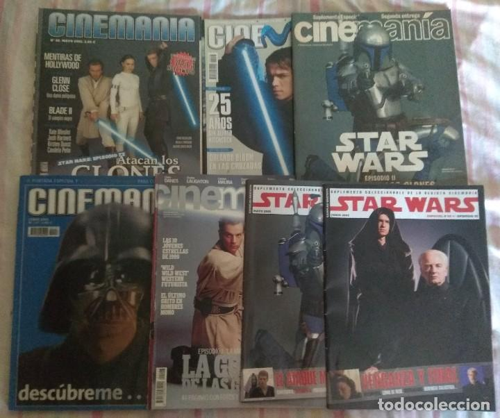 LOTE 7 REVISTAS STAR WARS AÑOS 1999 A 2005. BUENA CONSERVACIÓN (Cine - Revistas - Cinemanía)