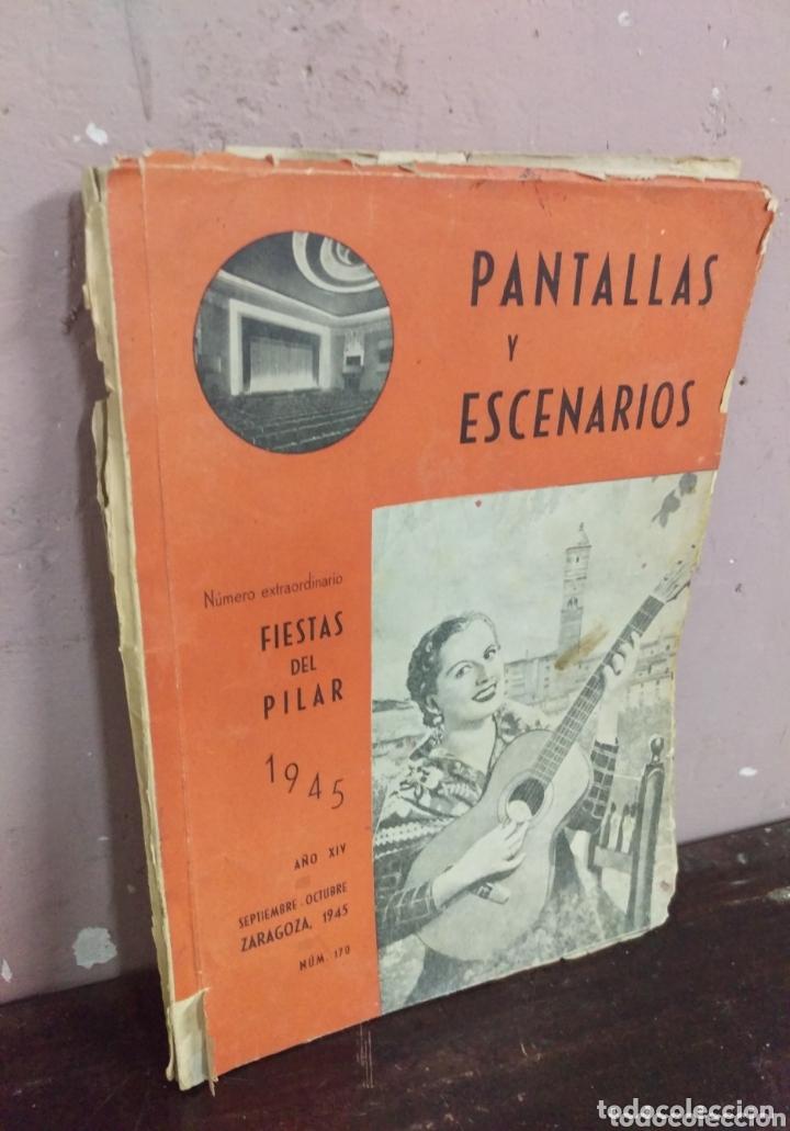 Cine: Revista de cine PANTALLAS Y ESCENARIOS. Zaragoza 1945 - Foto 2 - 172212552