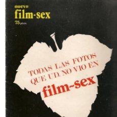 Cine: NUEVO FILM - SEX. EXTRA. TODAS LAS FOTOS QUE NO VIO EL FILM - SEX. EDITA: PERMANENCIAS, 1977(P/B1). Lote 172404532