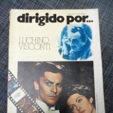 Cine: DIRIGIDO POR Nº 7 - LUCHINO VISCONTI - MAYO 1973. Lote 172612568