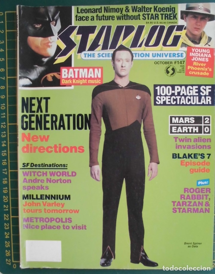 REVISTA CINE STARLOG N 147 STAR TREK BATMAN INDIANA JONES ORIGINAL EN INGLES 100 PG (Cine - Revistas - Star Ficcion)