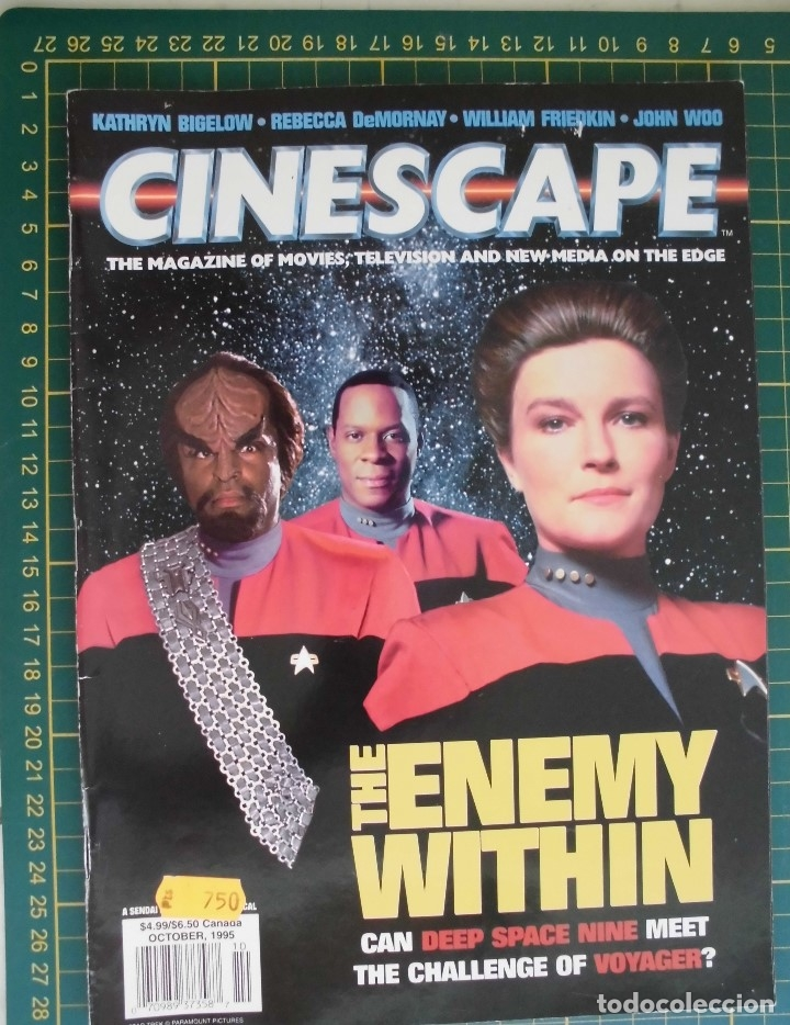 REVISTA CINE CINESCAPE OCTUBRE 1995 STAR TREK VOYAGER DS9 ORIGINAL EN INGLES (Cine - Revistas - Star Ficcion)